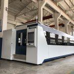 CNC 500w 700w 750w 1000w 2000w metal üçün lif lazer kəsici maşın