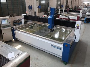 2000 * 1500mm 380 mpa abrasive tempered and laminated glass high pressure CNC water jet cutting machine