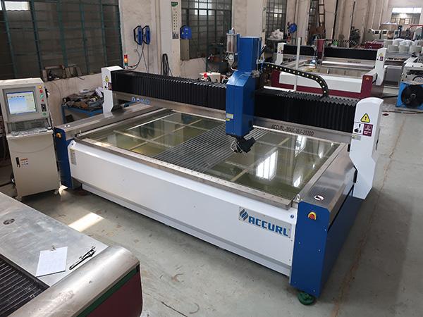 2000 * 1500 mm 380 mpa brusilno kaljeno in laminirano steklo visokotlačni CNC stroj za rezanje vodnega curka