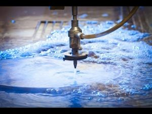 3D 5 Axîn Waterjet CNC Machine-Water Cutting Stainless Steel-High Pressure Waterjets