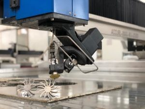 3D Waterjet Cutting Machine dengan 5 Axis Water jet CNC Cutting Price Dijual