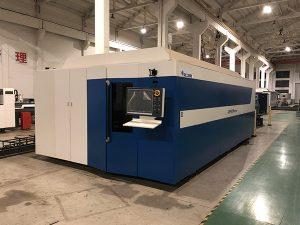 عالية الطاقة CNC الألياف القطع بالليزر آلة لقطع الفولاذ المقاوم للصدأ الليزر قطع متجر ليزر وظائف