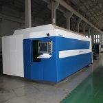 industri allmänt använt fiber laser skärmaskin 750w / 1000w pris