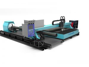 metal pipe tube automic cnc fiber laser cutting machine with high efficiency made in china