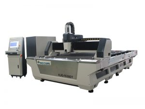 fully automatic cnc fiber laser tube cutting machine with dual interchangeable tables