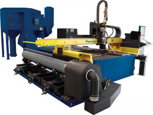 máquina de corte de plasma tipo cnc para táboa metálica