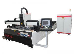 stainless steel square pipe / tube fiber metal laser cutting machine