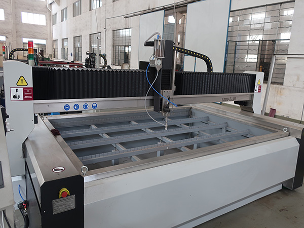 glass water jet cutting machine price with KMT pump