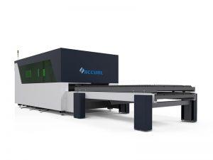 1500w ipg peralatan memotong serat laser dengan meja shuttle shuttle ganda