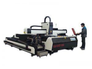 fiber 1000w metal laser cutter with exchange worktable