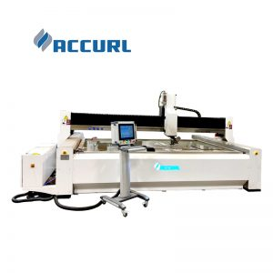new or used water jet cutting machine for stone glass metal alloy