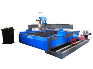 cnc plasma machine cutting metal tube 1325