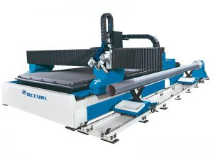 round pipe square tube profile cnc plasma flame cutting beveling machine for steel fabrication