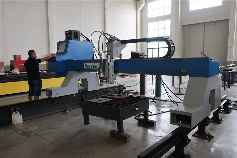 gantry type cantilever cnc plasma and flame oxyfuel cutting machine for sale