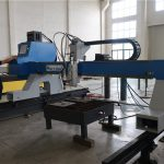 heavy duty metal plate and round pipe gantry cnc plasma flame cutting machine